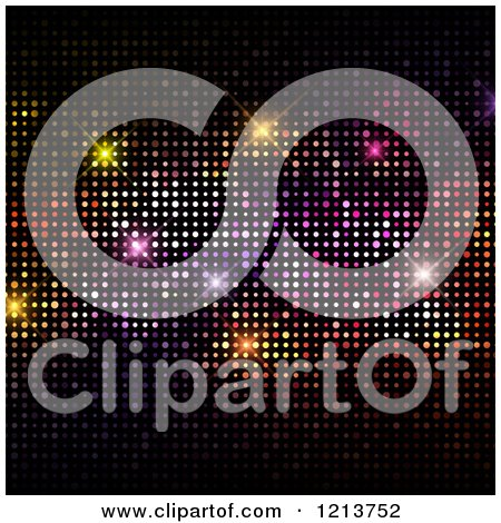 Clipart of a Colorful Disco Lights Background - Royalty Free Vector Illustration by KJ Pargeter