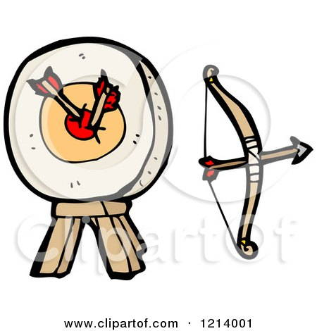 Cartoon of Archery Equipment - Royalty Free Vector Illustration by lineartestpilot