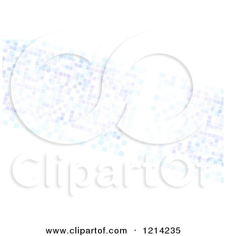 Clipart of a Pastel Purple and Blue Pixels on White - Royalty Free CGI Illustration by Arena Creative