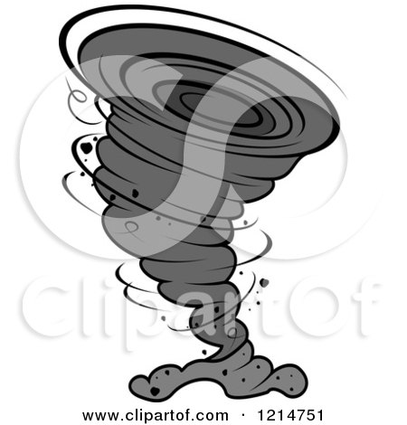 Clipart of a Grayscale Twister Tornado - Royalty Free Vector Illustration by Vector Tradition SM