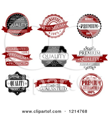 Clipart of Vintage Retail Quality Guarantee Labels 2 - Royalty Free Vector Illustration by Vector Tradition SM