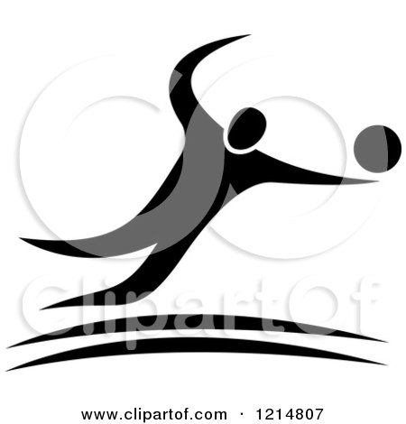 Royalty-Free (RF) Clipart of Volleyball Players, Illustrations ...