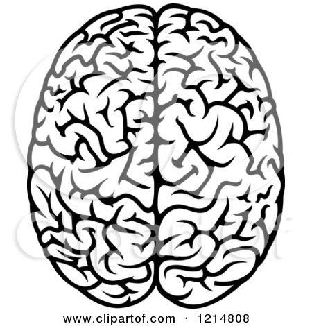 Royalty-Free (RF) Black And White Brain Clipart, Illustrations ...