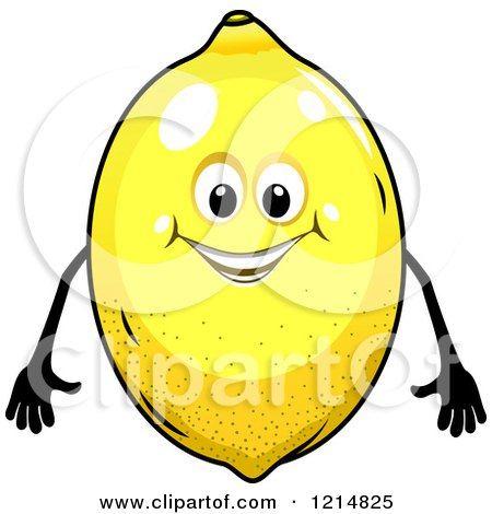 Clipart of a Happy Lemon Character - Royalty Free Vector Illustration by Vector Tradition SM