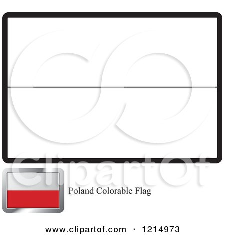 Coloring Page And Sample For A Poland Flag