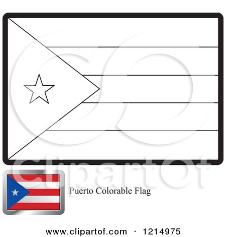 Coloring Page And Sample For A Puerto Rico Flag By Lal Perera