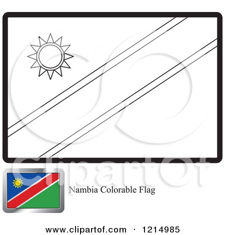 coloring page and sample for a namibia flag by lal perera