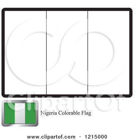 coloring page and sample for a nigeria flag