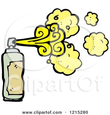 Cartoon of a Aerosol Spray Can - Royalty Free Vector Illustration by lineartestpilot