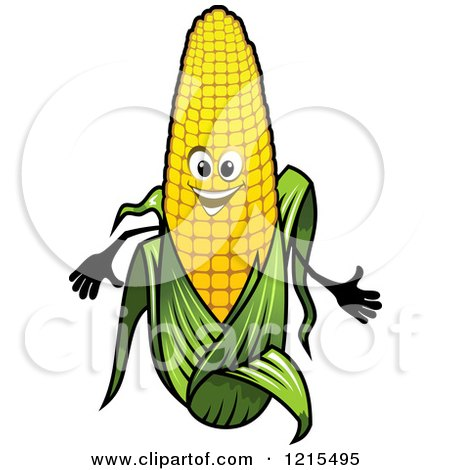 Clipart of a Happy Corn Mascot - Royalty Free Vector Illustration by Vector Tradition SM