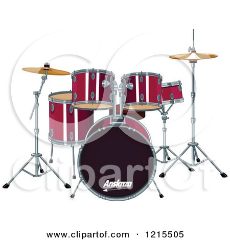 Red Drum Set Clipart Preview Clipart Red Drum Set