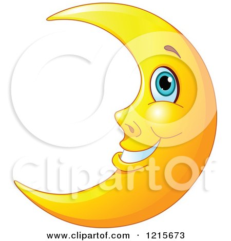 Royalty Free Rf Crescent Moon Clipart Illustrations