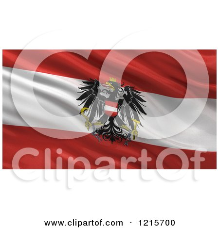 Clipart of a 3d Waving Flag of Austria with Rippled Fabric - Royalty Free Illustration by stockillustrations