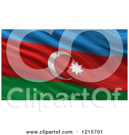 Clipart of a 3d Waving Flag of Azerbaijan with Rippled Fabric - Royalty Free Illustration by stockillustrations