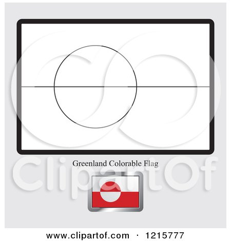 Coloring Page And Sample For A Greenland Flag