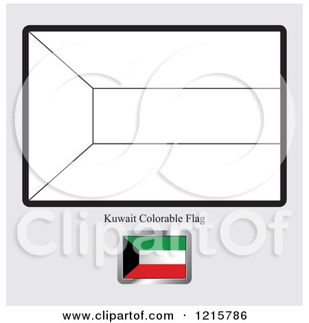 Kuwait Flag Coloring Page RoyaltyFree RF Kuwait Clipart Illustrations Vector