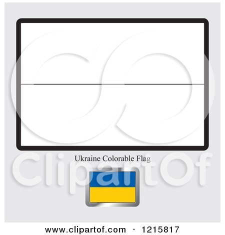 Admirable Clipart Of A Coloring Page And Sample For A Ukraine Flag Interior Design Ideas Gentotthenellocom