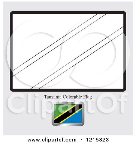 Coloring Page And Sample For A Tanzania Flag By Lal Perera