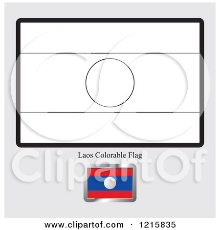 Coloring Page And Sample For A Laos Flag By Lal Perera