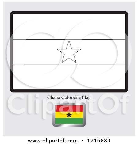 Royalty free stock illustrations of coloring pages by lal for Ghana flag coloring page
