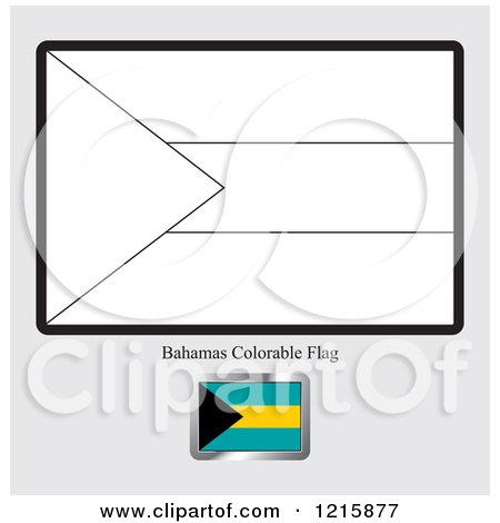 Coloring Page And Sample For A Bahamas Flag By Lal Perera