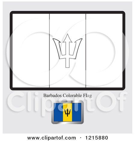Royalty free rf barbados flag clipart illustrations for Barbados flag coloring page