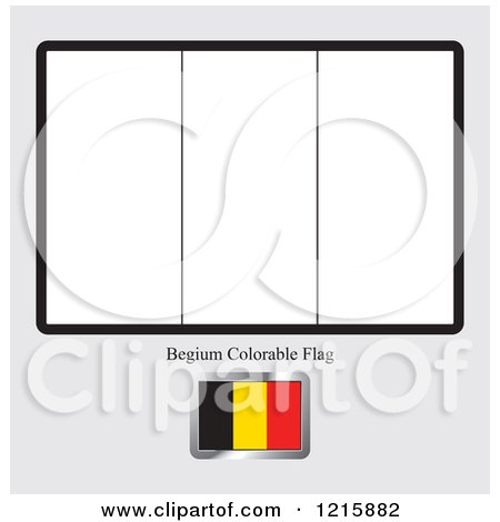 Clipart of a coloring page and sample for a belgium flag for Belgium flag coloring page