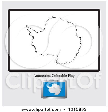 antarctica flag coloring page - royalty free rf antarctic clipart illustrations vector