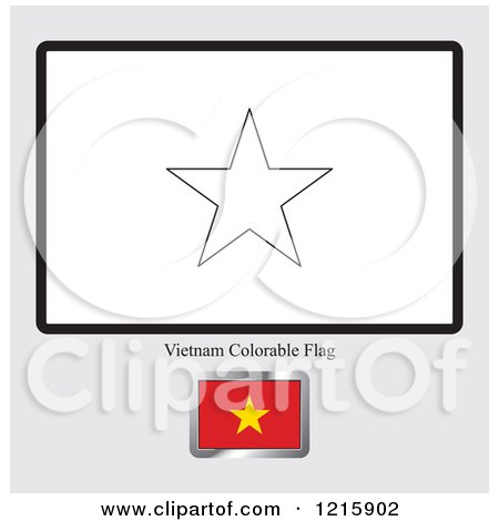 Coloring Page And Sample For A Vietnam Flag By Lal Perera