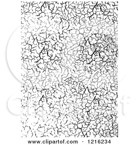 Clipart of a Cracked Black and White Overlay - Royalty Free Vector Illustration by BestVector