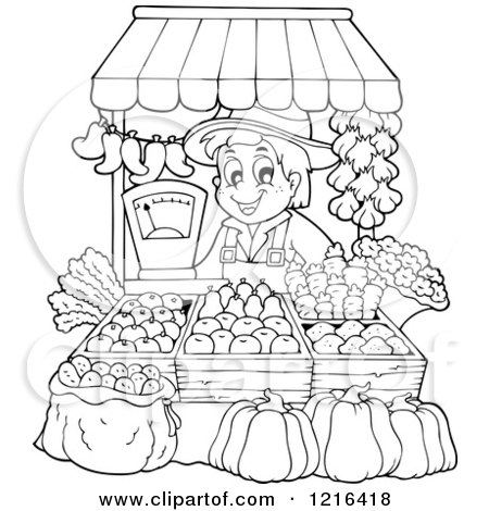 Clipart Of A Cartoon Happy Kale Plant Character Royalty