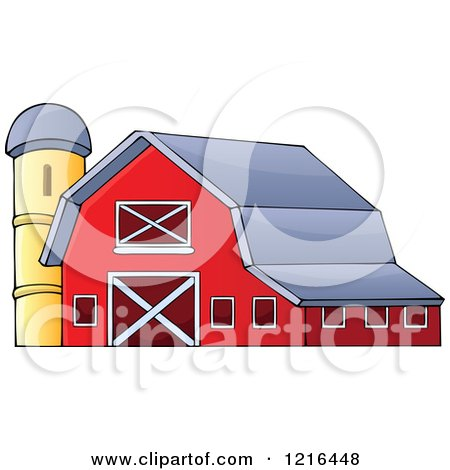 Royalty-Free (RF) Barn Clipart, Illustrations, Vector Graphics #1