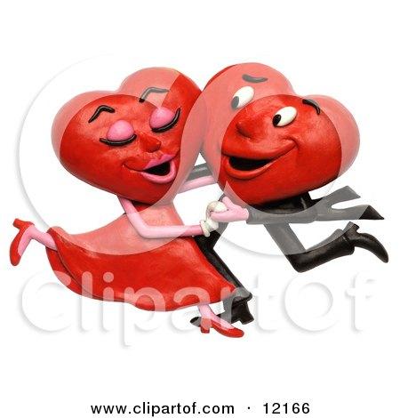 3d Heart Couple Dancing Posters, Art Prints