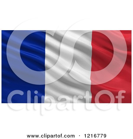 Clipart of a 3d Waving Flag of France with Rippled Fabric - Royalty Free Illustration by stockillustrations