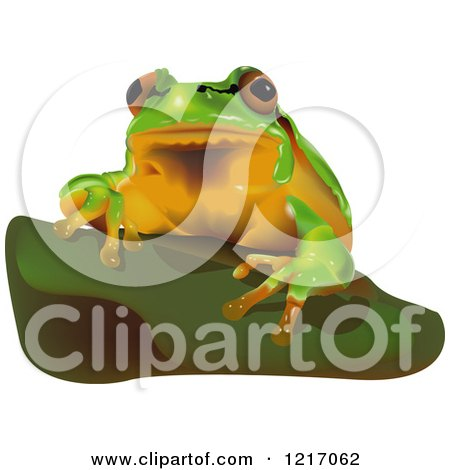 Clipart of a European Tree Frog - Royalty Free Vector Illustration by dero