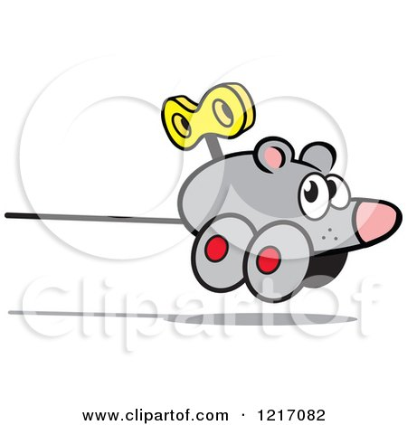 Clipart of a Wind up Mouse - Royalty Free Vector Illustration by Johnny Sajem
