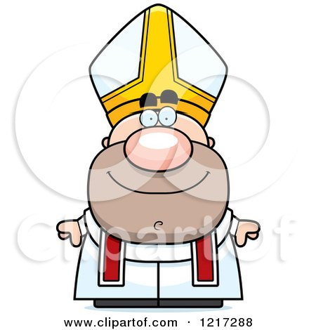 Clipart of a Happy Pope - Royalty Free Vector Illustration by Cory Thoman