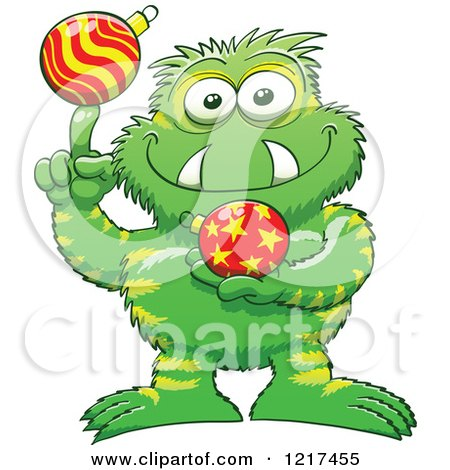 Happy Monster Illustration Clipart of a Happy Monster