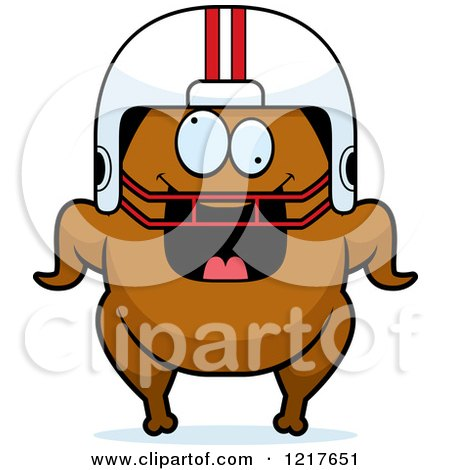 Cartoon Clipart Of A Black And White Turkey Bird On The