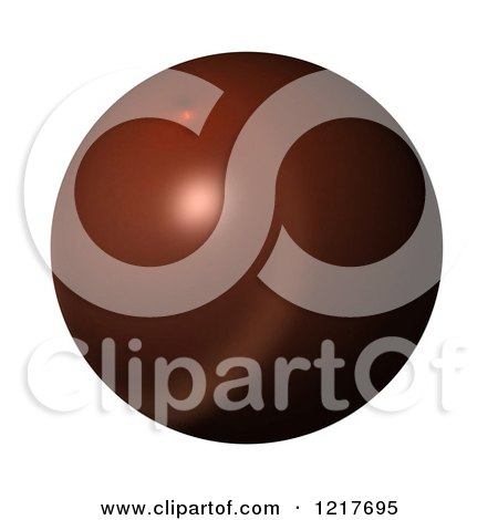 Clipart of a 3d Brown Globe on White - Royalty Free Illustration by oboy