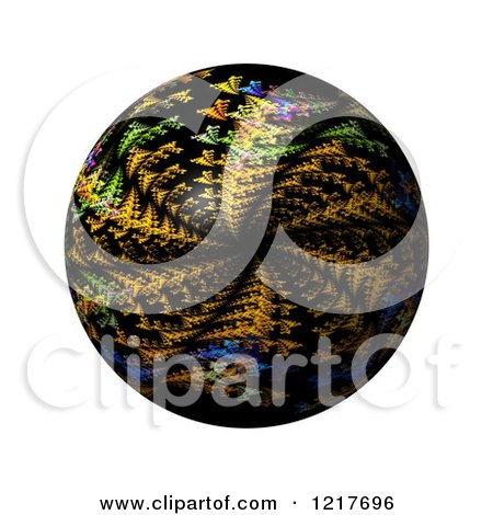 Clipart of a Colorful Kaleidoscope Globe on White - Royalty Free Illustration by oboy