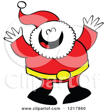 Clipart of Santa Claus Laughing - Royalty Free Vector Illustration by Zooco