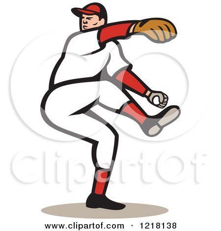 Royalty-Free (RF) Baseball Pitcher Clipart, Illustrations, Vector ...