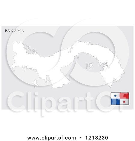 clipart of a panama map and flag royalty free vector illustration by lal perera 1218230. Black Bedroom Furniture Sets. Home Design Ideas