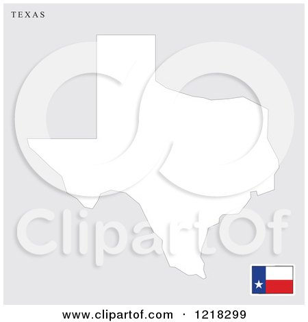 Clipart of a Texas Map and Flag - Royalty Free Vector Illustration by Lal Perera