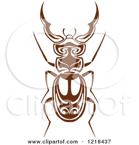 Clipart of a Brown and White Beetle - Royalty Free Vector Illustration by Vector Tradition SM