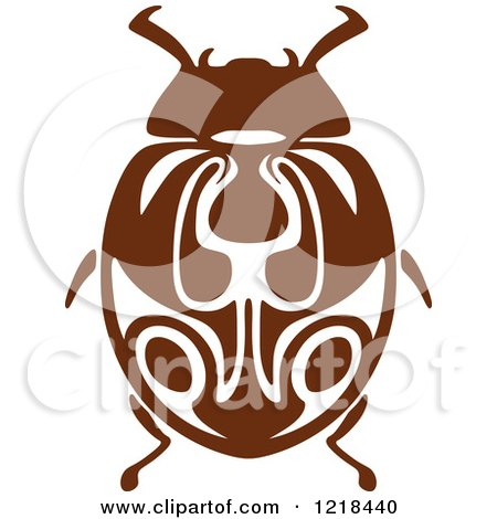 Clipart of a Brown and White Beetle 2 - Royalty Free Vector Illustration by Vector Tradition SM