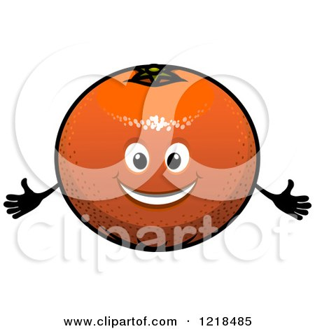 Clipart of a Happy Orange Character - Royalty Free Vector Illustration by Vector Tradition SM