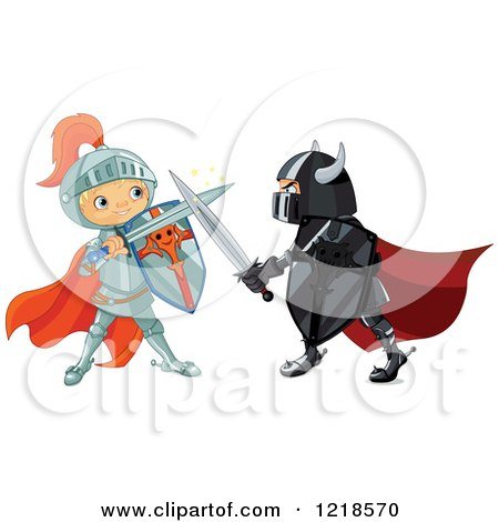 Clipart Fairy Tale Fantasy Princess And Knight Holding ...