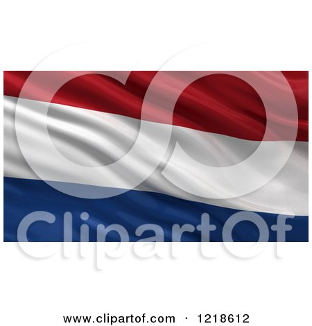 Clipart of a 3d Waving Flag of Netherlands with Rippled Fabric - Royalty Free Illustration by stockillustrations